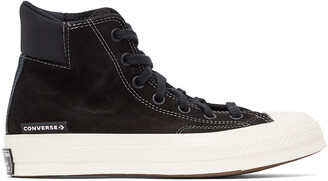 Converse Black Anodized Metals Chuck 70 Padded High Sneakers