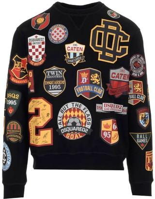 DSQUARED2 College Patch Crewneck Sweatshirt