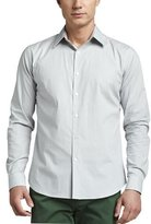Theory Check Sport Shirt, Light Gray