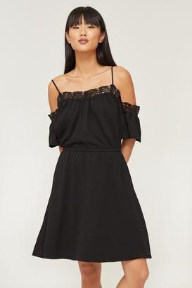 Ardene Crochet Trim Cold Shoulder Dress