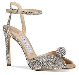 Jimmy Choo Women's Sacora 100 Embellished High-Heel Sandals
