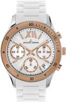 Jacques Lemans Men's 1-1586R Rome Sports Sport Analog Chronograph with Silicone Strap Watch