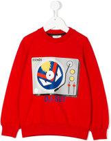 Fendi DJ- Set print sweatshirt