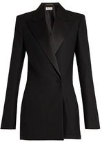 Saint Laurent Peak-lapel wool-blend playsuit