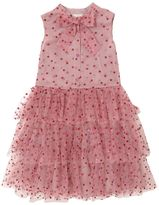 Gucci Glittered Polka Dots Stretch Tulle Dress