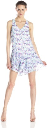 Olive + Oak Olive & Oak Women's Watercolor Floral Print Ruffle Dress