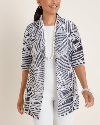 Travelers Collection Printed Strip Jacket