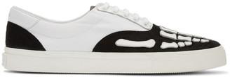 Amiri Black and White Skeleton Toe Sneakers