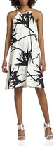 Halston Printed Trapeze Dress
