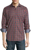 Robert Graham Trotter Plaid Long-Sleeve Shirt, Red