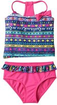 Pink Platinum Girls 4-6x Tribal Tankini & Scoop Bottoms Swimsuit Set