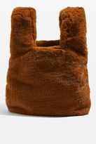 Dolly faux fur small grab tote bag
