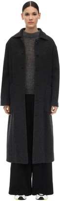 Lardini Long Virgin Wool Blend Coat