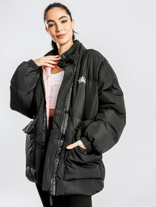 Stussy Stock Oversized Puffer Jacket in Black