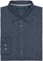 Perry Ellis Exclusive Heather Floral Print Shirt