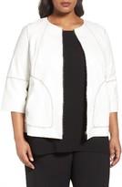 Lafayette 148 New York Plus Size Women's Levine Leather Jacket