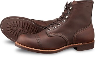 """Red Wing Shoes 8111 Iron Ranger 6"""" Boot in Amber Harness Leather"""