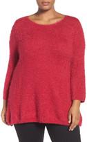 Sejour Eyelash Knit Sweater (Plus Size)