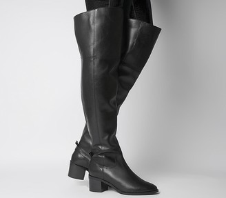 Office Katelyn Smart Over The Knee Boots Black Leather
