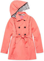Pink Platinum Ruffle Trench Raincoat