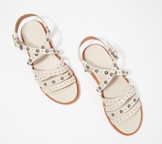 Frye Embellished Leather Multi- Strap Sandals - Andora