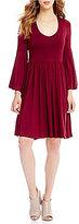 Gibson & Latimer Bell Sleeve Knit Dress