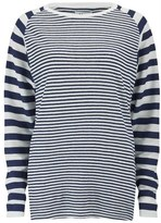 Zoe Karssen Women's Linen Stripe TShirt - White