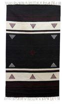Novica Handcrafted Wool 'Burgundy Triangles' Geometric Dhurrie Area Rug (3x5) (India)