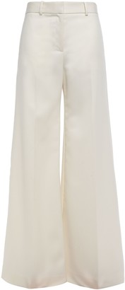 Bella Freud Bianca Wool-twill Wide-leg Pants