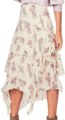 LoveShackFancy Alex Silk Skirt