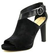 Via Spiga Robina Women Peep-toe Suede Black Heels.