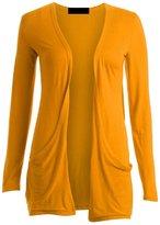 ZJ Clothes Ladies Boyfriend Open Cardigan with Pockets LXL