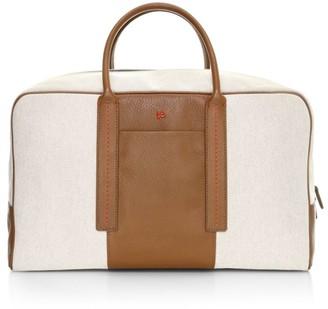 Isaia Stripe Detail Canvas Bag
