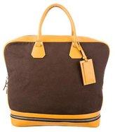 Prada Leather-Trimmed Weekender Bag