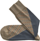 Johnston & Murphy Mixed Stripe/Dot Socks