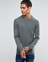 Asos Lambswool Rich Crew Neck Jumper in Multi Colour Twist