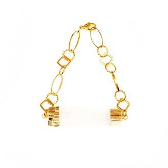 Tiana Jewel Selenite Bracelet Gold