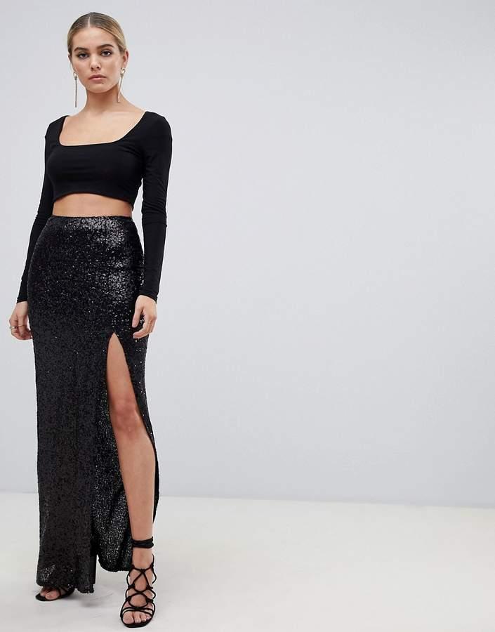 9fea2e12827b85 Sequin Wrap Skirt - ShopStyle