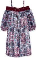 Amy Byer Off-The-Shoulder Dress with Necklace Set, Big Girls (7-16)