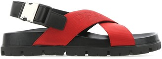 Prada Crossover Buckled Sandals