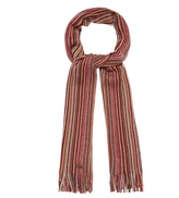 Mantaray Red Striped Scarf
