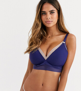 Project Me Projectme Nursing Ambition wirefree soft cup bra in blue