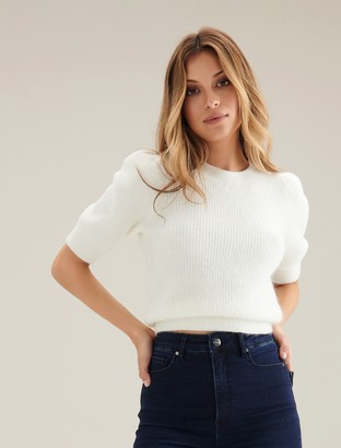 Ever New Carina Brushed Puff Sleeve Knit Tee