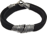 M. Cohen Feather two-strand leather bracelet