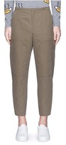 Acne Studios 'Phase' cotton-linen flare work pants