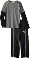 Puma Little Boys' Color Blocked Raglan Twofer Pant Set