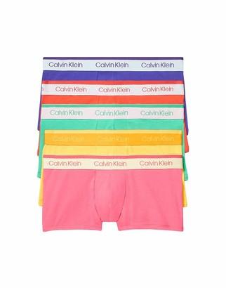 Calvin Klein Men's Cotton Stretch Multipack Low Rise Trunks Pride Pack