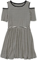 Crazy 8 Cold Shoulder Stripe Dress