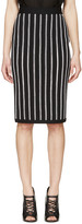 Givenchy Black Crocheted Stripe Skirt