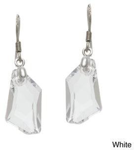 La Preciosa Sterling Silver Crystal Geometrical Earrings Made with SWAROVSKI Elements